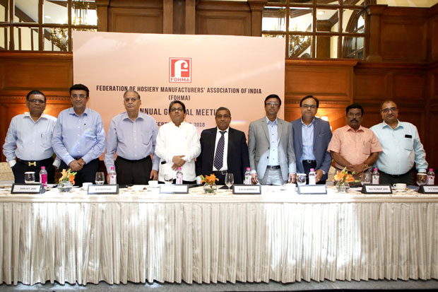 At the recently held AGM of the Federation of Hosiery Manufacturers of India (FOHMA) in Kolkata, Mr. K B Agarwala, Managing Director of Rupa & Co. was re-appointed as its President.
