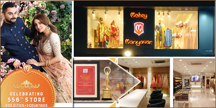 Manyavar Bags Times Business Award & Opens 556th Ethnic Store